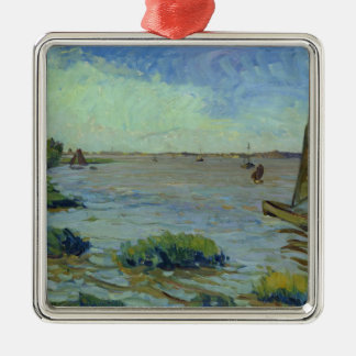 Windy Day on the Elbe, 1911 Christmas Ornament