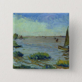 Windy Day on the Elbe, 1911 Pinback Button
