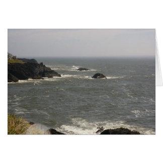 Windy Day on the Oregon Coast Card