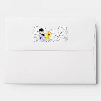Windy Kite Flying Day Envelope