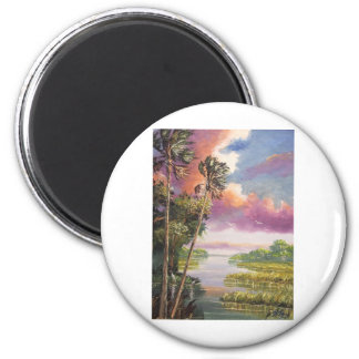 Windy Palm Trees Backwoods Magnet
