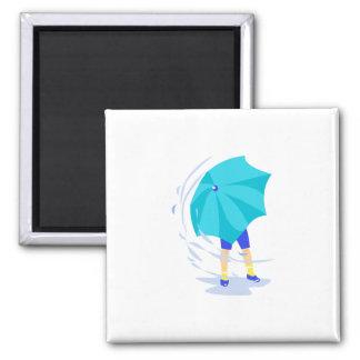 Windy Rain Storm 2 Inch Square Magnet