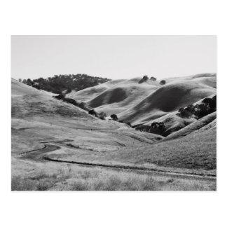 Windy Road Through Hills Postcard