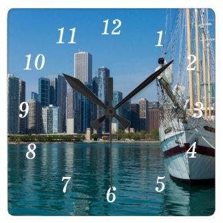 Windy Sailing Square Wall Clock