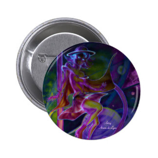 Windy Saturn Psychedelic Button