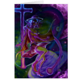 Windy Saturn Psychedelic Cards