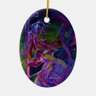 Windy Saturn Psychedelic Christmas Tree Ornaments