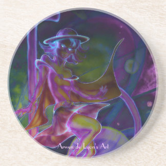 Windy Saturn Psychedelic Drink Coasters