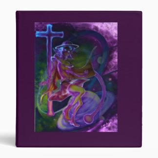 Windy Saturn Psychedelic Vinyl Binder