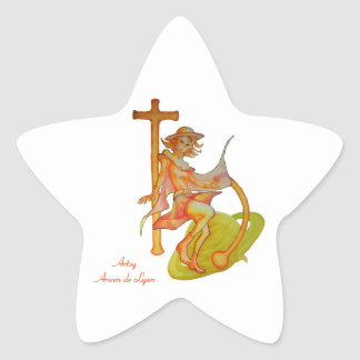 Windy Saturn Up Close and Personal Star Sticker