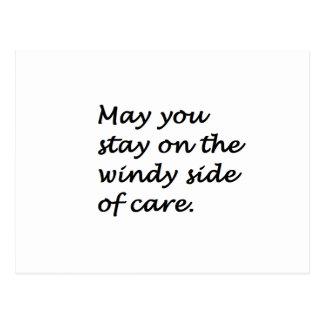 windy side of care postcard