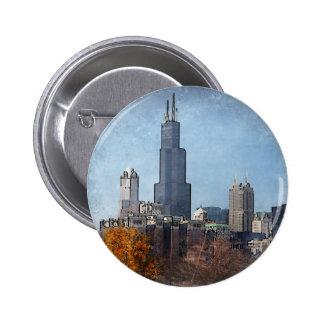 Windy town center Autumn Buttons
