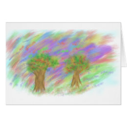 Windy Trees Card