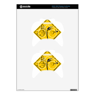 Windy Weather Warning Merchandise and Clothing Xbox 360 Controller Decal