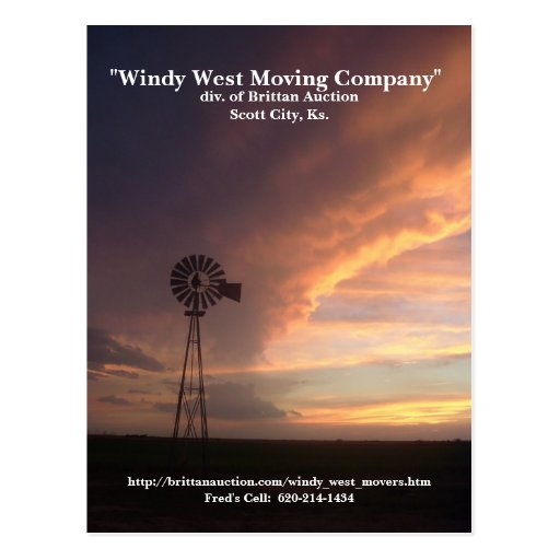 Windy West Movers Postcard