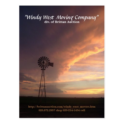 Windy West Moving Company Postcard