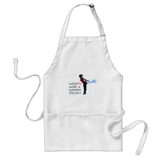 windy with a warm front adult apron