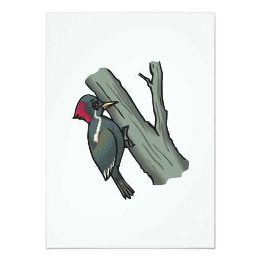 Windy Woodpecker 5x7 Paper Invitation Card