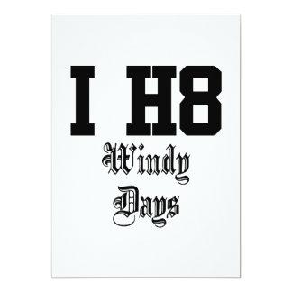 windydays invitación 12,7 x 17,8 cm