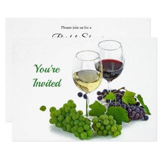 Wine 2 Bridal Shower Invitation