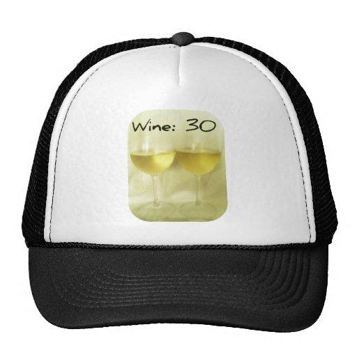 WINE 30 PRINT TRUCKER HAT