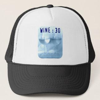 WINE  30 SOFT BLUE PRINT TRUCKER HAT