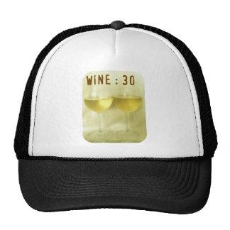 WINE 30 SOFT GOLD PRINT TRUCKER HAT