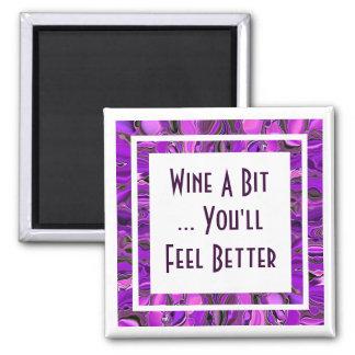 wine a bit 2 inch square magnet