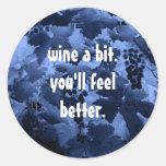 wine a bit funny sticker