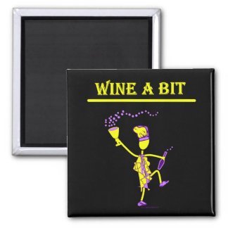 Wine A Bit Gift & T Shirts 2 Inch Square Magnet