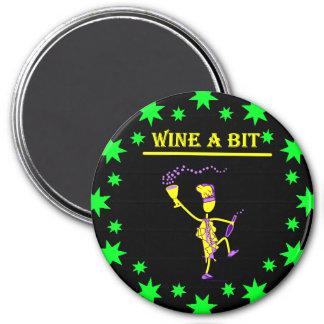Wine A Bit Gift & T Shirts 3 Inch Round Magnet