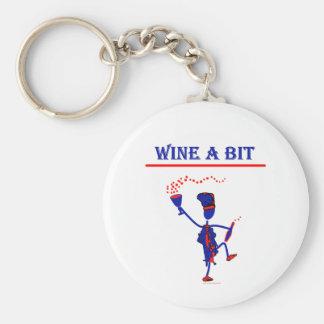 Wine A Bit Gift & T Shirts Basic Round Button Keychain