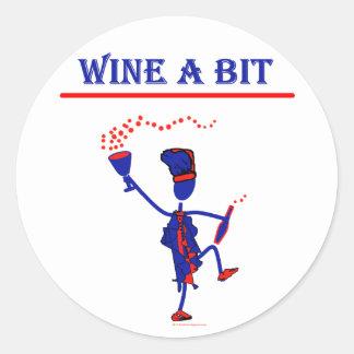Wine A Bit Gift & T Shirts Classic Round Sticker