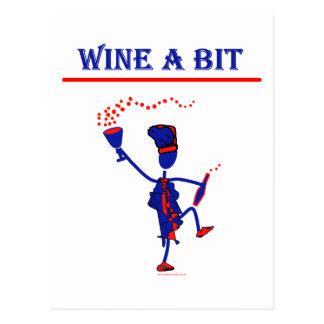 Wine A Bit Gift & T Shirts Postcard