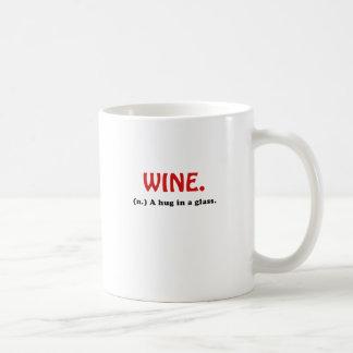Wine A Hug in a Glass Coffee Mug
