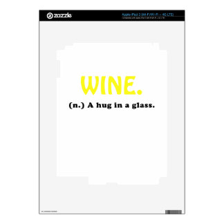 Wine A Hug in a Glass Decal For iPad 3