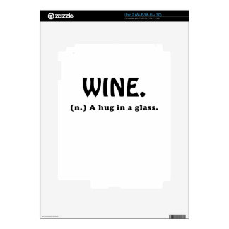 Wine A Hug in a Glass iPad 2 Decals