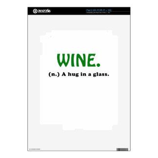 Wine A Hug in a Glass iPad 2 Skins