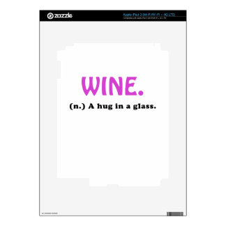 Wine A Hug in a Glass iPad 3 Decals