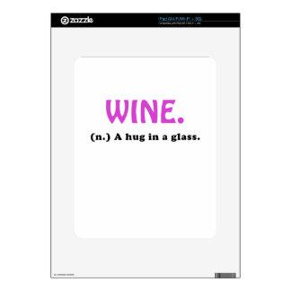 Wine A Hug in a Glass iPad Skins