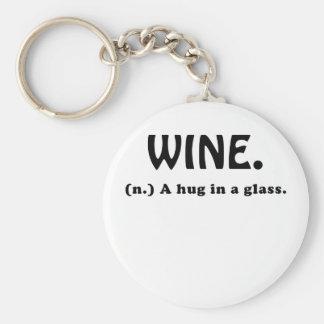 Wine A Hug in a Glass Keychain