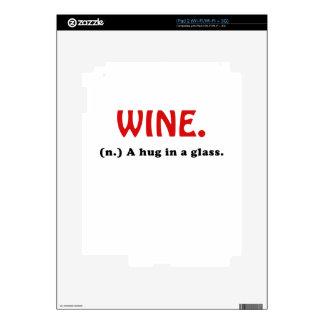 Wine A Hug in a Glass Skin For iPad 2