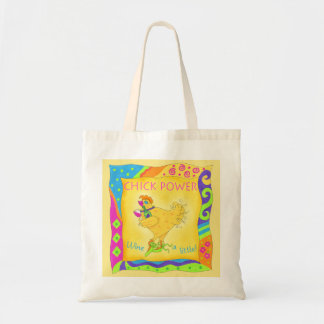 Wine a Little Chick Power Custom Yellow Tote Bag