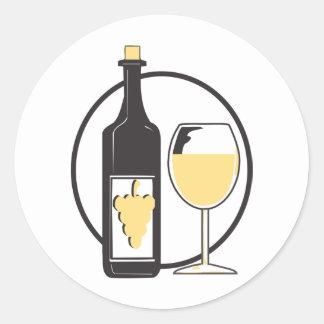 Wine a little classic round sticker
