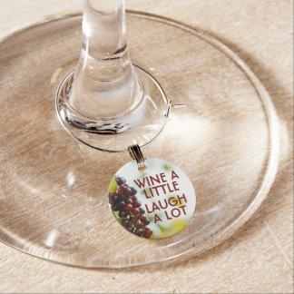 Wine a little Laugh a lot Wine Charm