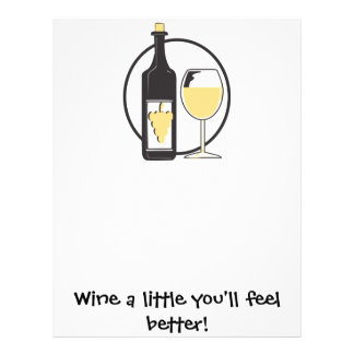 Wine a little letterhead