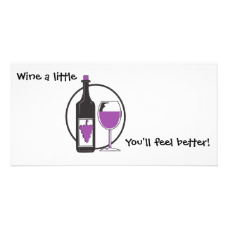 Wine A little/Red Photo Greeting Card