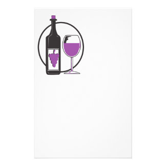 Wine A little/Red Stationery