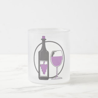 Wine a Little, You'll feel better! Frosted Glass Coffee Mug