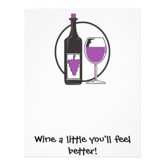 Wine a Little, You'll feel better! Letterhead